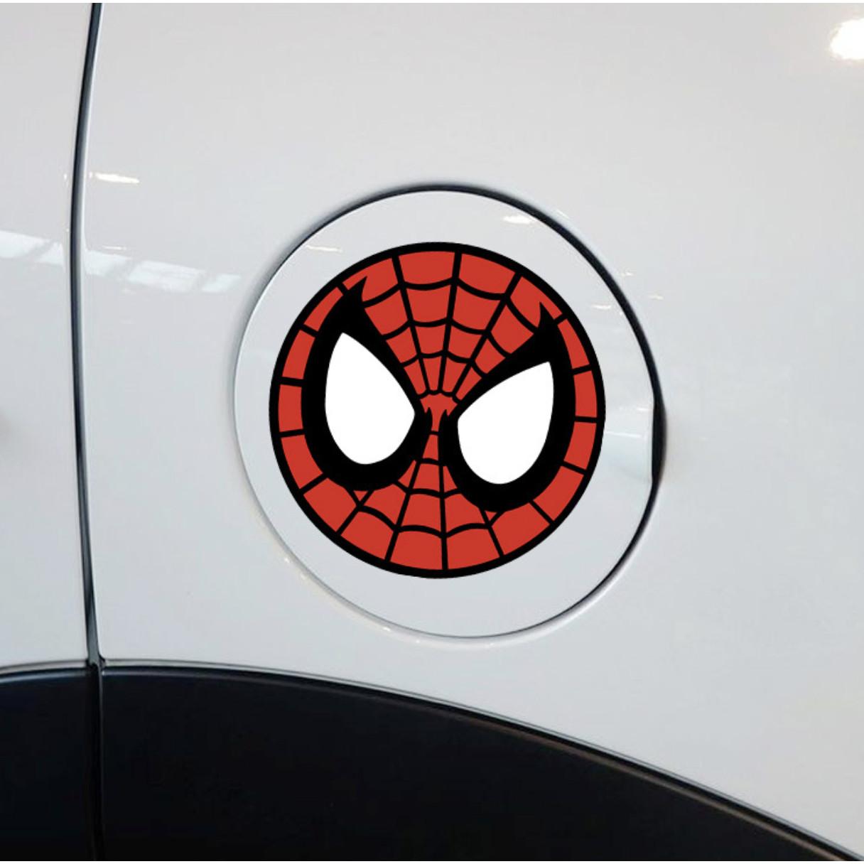 NGƯỜI NHỆN TRÒN - Sticker transfer hình dán trang trí Xe hơi Ô tô size 11cm