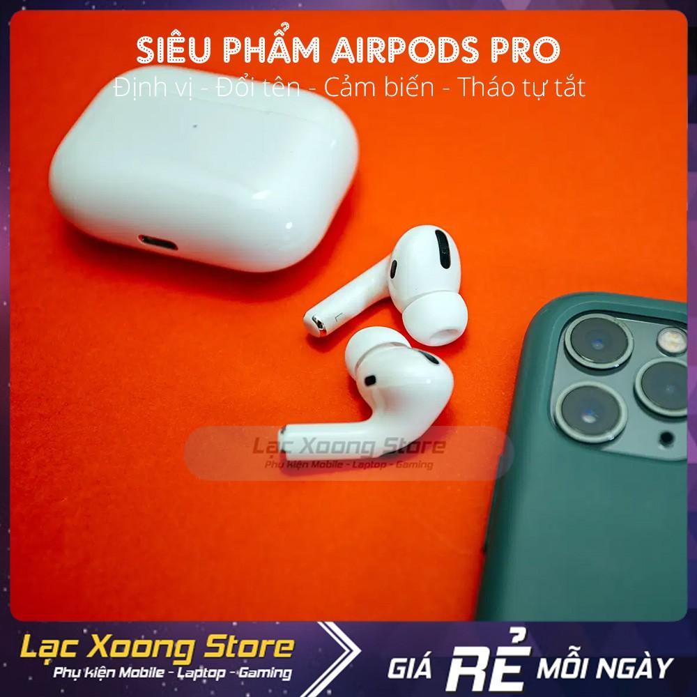 Tai nghe Bluetooth Airpods Pro (Sạc không dây, tháo tai tự tắt nhạc, bật nắp kết nối)