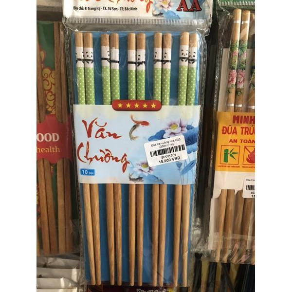 Bộ 10 đũa tre cao cấp hàng Việt Nam