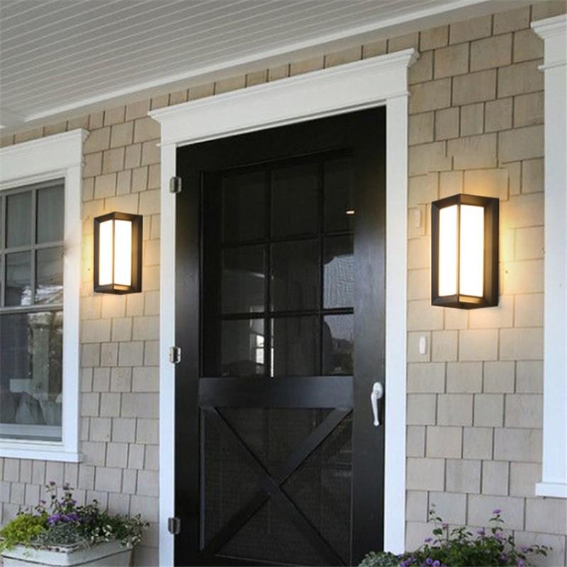 Đèn gắn tường ngoài trời hiện đại hộp chữ nhật VNT659