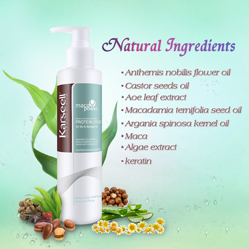 Kem dưỡng xả khô siêu mượt tóc Karseell Maca Essence repair Protein cream 150ml