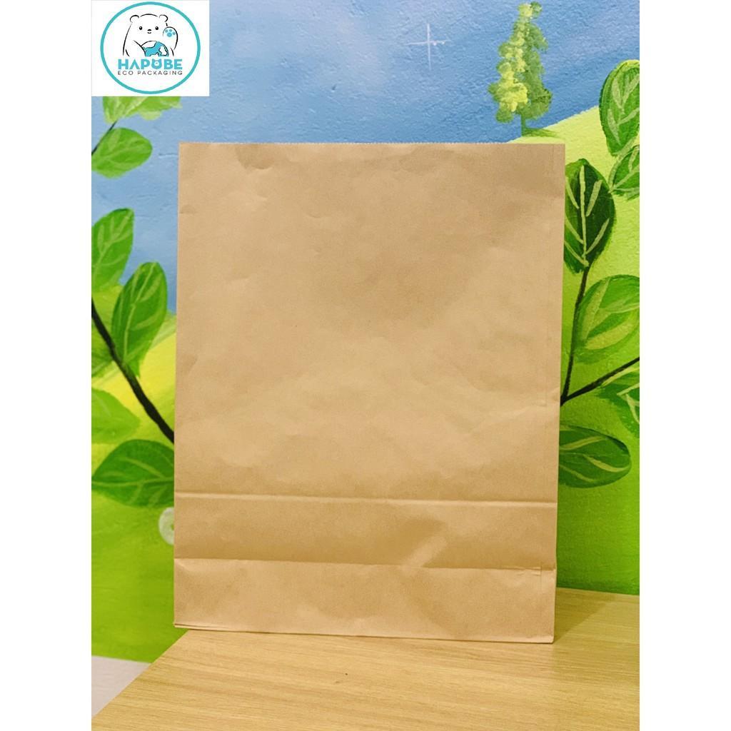 100 túi giấy kraft nhật K2015 không quai 21,5x15x41,5cm