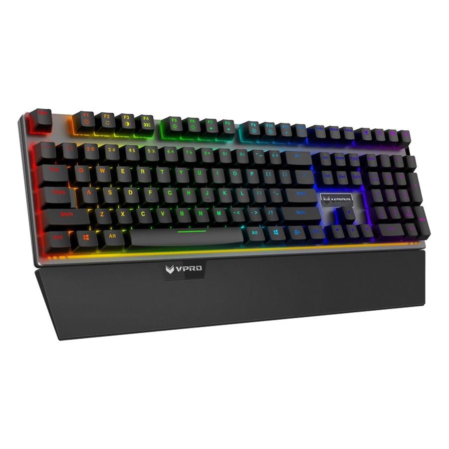 Bàn Phím Cơ Có Dây Rapoo V720S RGB Mechanical Fullsize - Hàng Chính Hãng