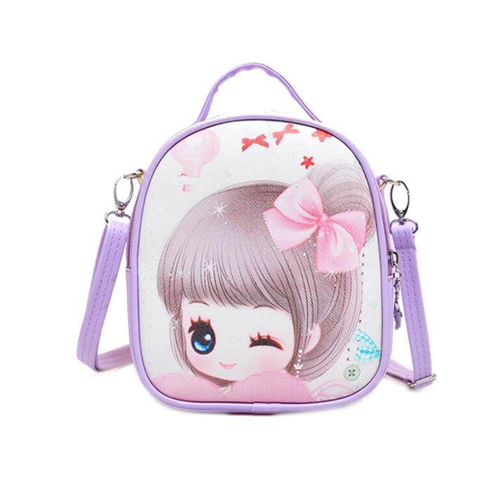 Túi đeo kiêm balo công chúa tím cho bé 3-10 tuổi