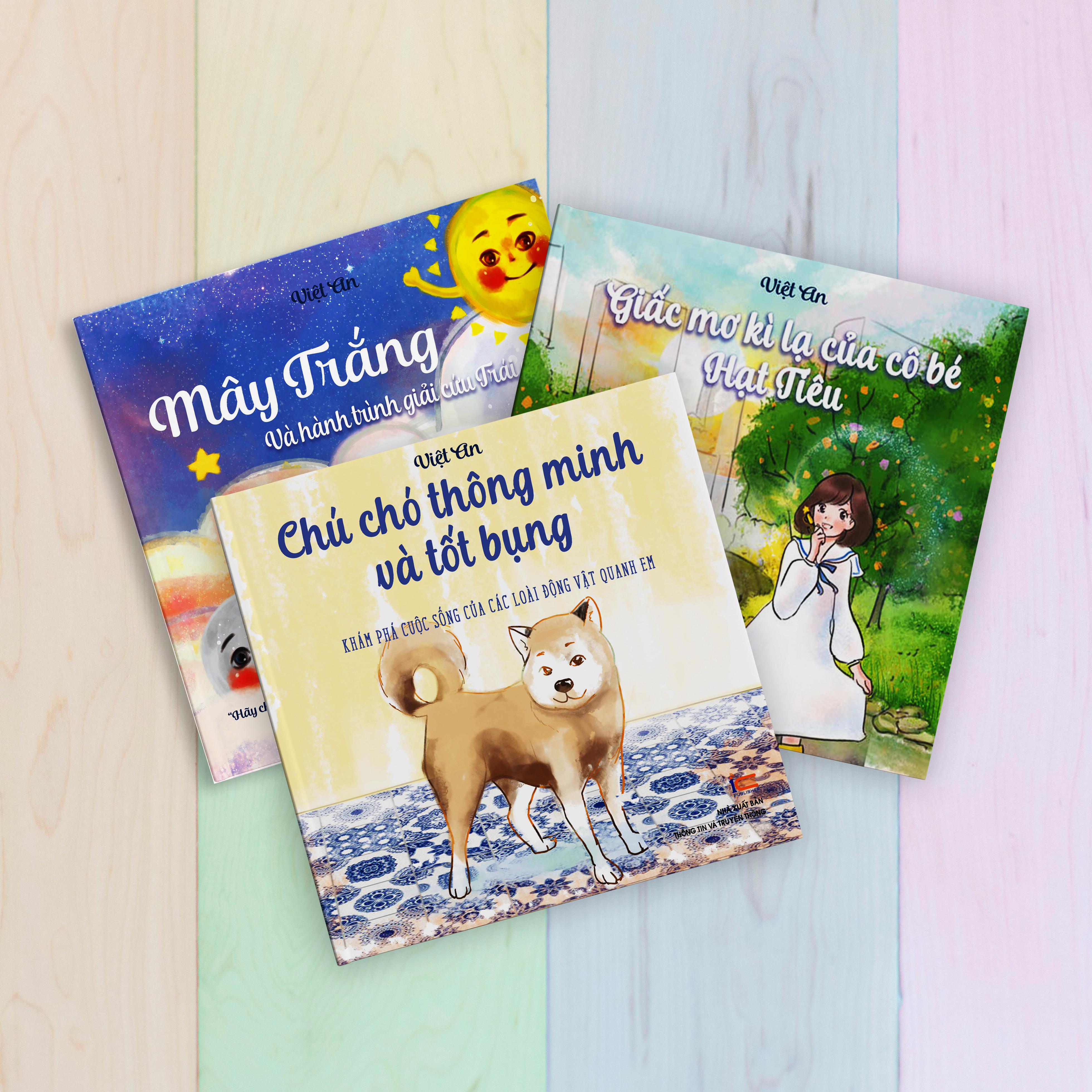 Sách Thiếu Nhi - Combo 3 cuốn truyện tranh: Giấc mơ kì lạ của cô bé hạt tiêu, Mây trắng và hành trình giải cứu Trái Đất, Chú chó thông minh và tốt bụng