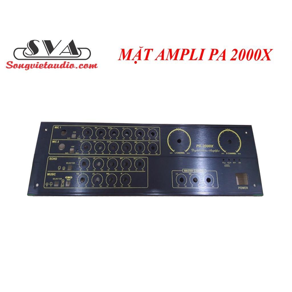 MẶT cho  AMPLI PA 2000X (MẶT NHÔM)
