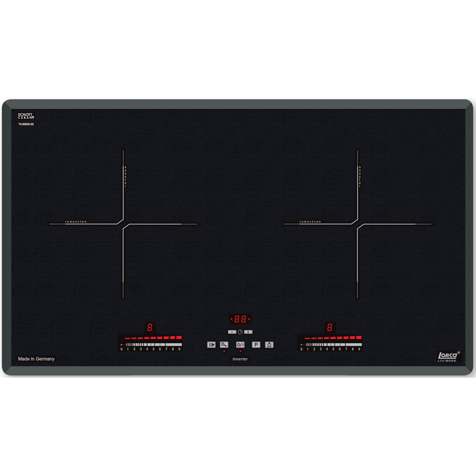 Bếp từ đôi LCI-809D - Hàng chính hãng