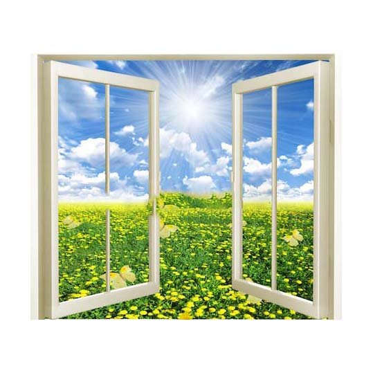 Tranh dán tường cửa sổ 3D T3DMN 007
