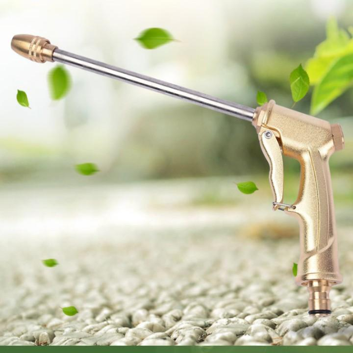 Bộ dây vòi xịt nước rửa xe,tưới cây đa năng,tăng áp 3 lần, loại 7m,10m 206701-3 đầu đồng,cút đồng+ tặng đai