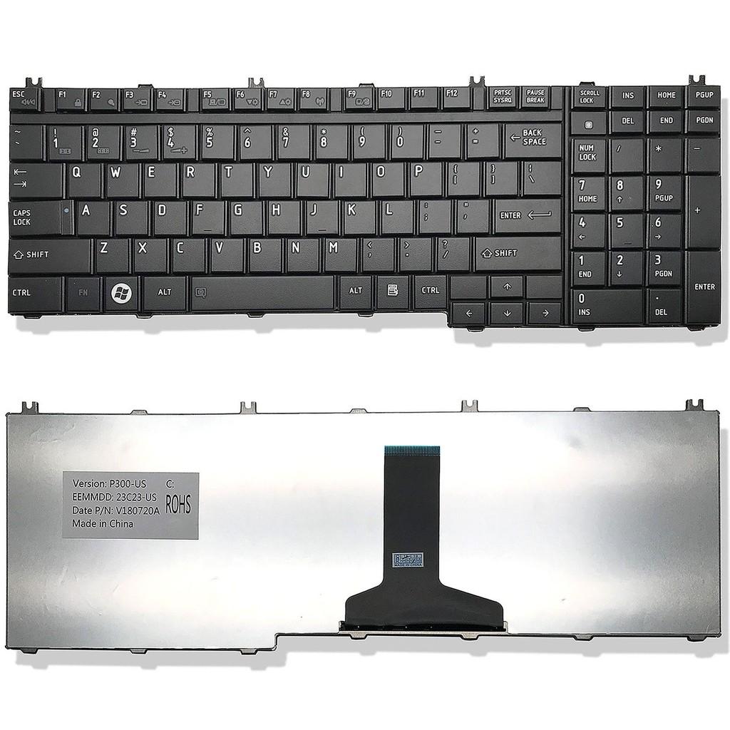 Bàn Phím Dành Cho Laptop Toshiba Satellite P200 P205  P300 P305 P500 P505 P305D L350 L355 L355D L500 L500D L505 L505D L515 L550 L555 L555D A500 A505 A505D (Đen)