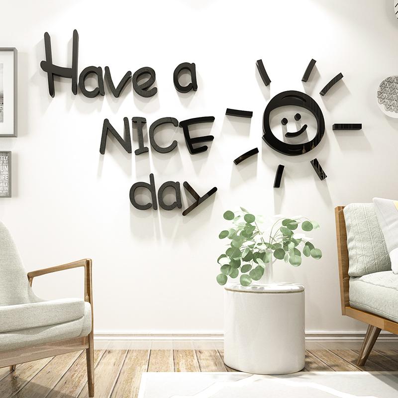 Tranh Ngày Tốt Lành Tranh Mica 3D Trang Trí Dán Tường