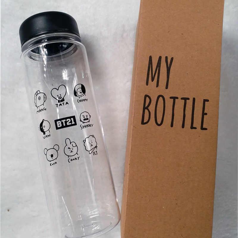 Bình đựng nước BTS BT21 chai nhựa mini tiện dụng