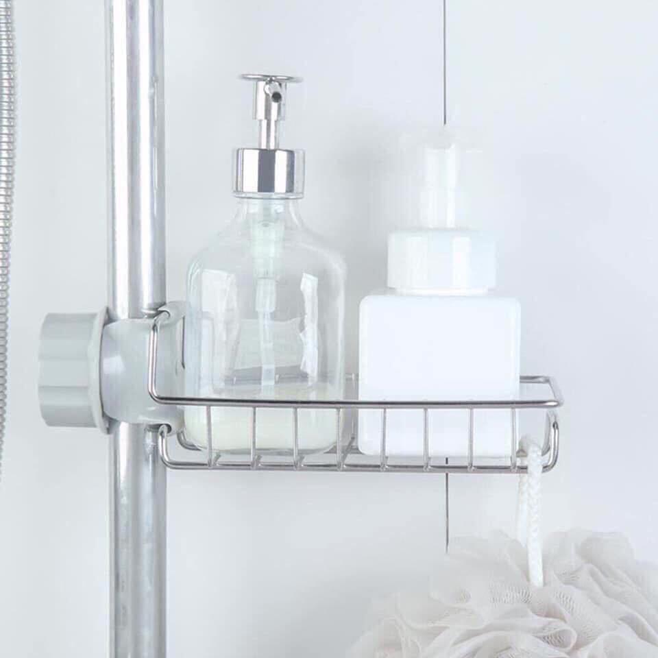 combo 10 kệ inox gắn vòi nước đa năng mẫu 1