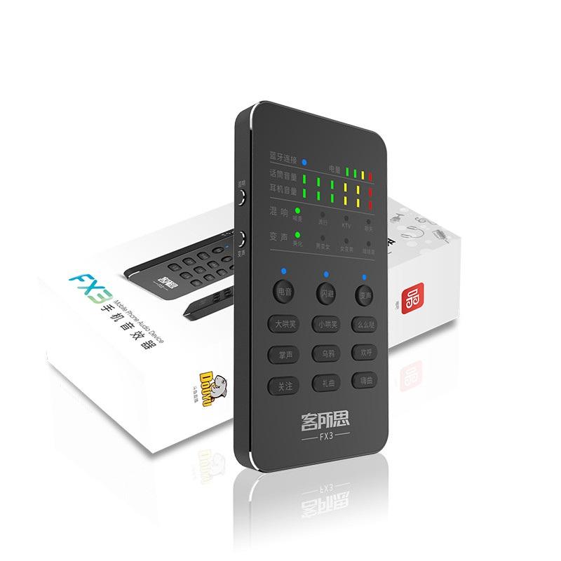 Sound Card XOX FX3 Mobile Bluetooth Thu Âm Live Stream - Hàng Nhập Khẩu