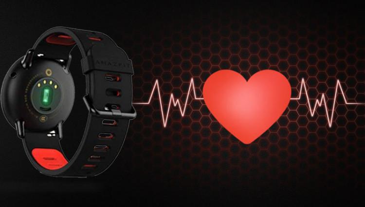 Smartwatch Xiaomi Amazfit Pace GPS Đen - Đo nhịp tim