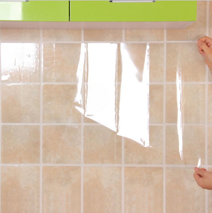 Giấy dán tường, dán bếp đa năng TRONG SUỐT chịu nhiệt, chống dầu mỡ, chống nước tiện ích (70x45cm)