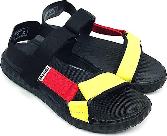 Giày Sandals Shondo Tam Giác Vàng Đỏ Nữ F6T301