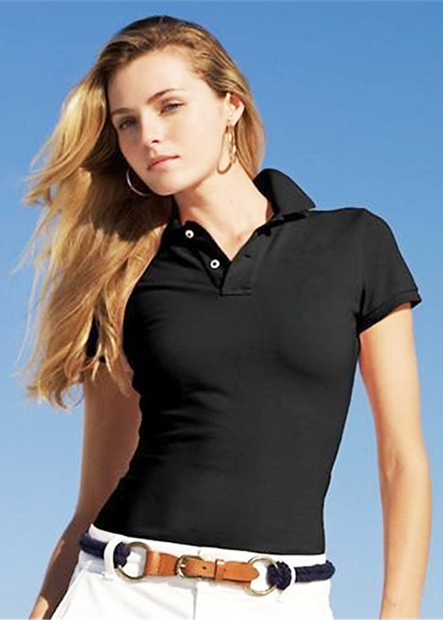 Áo polo tay ngắn nữ TA03 Đen Tuyền - Size L