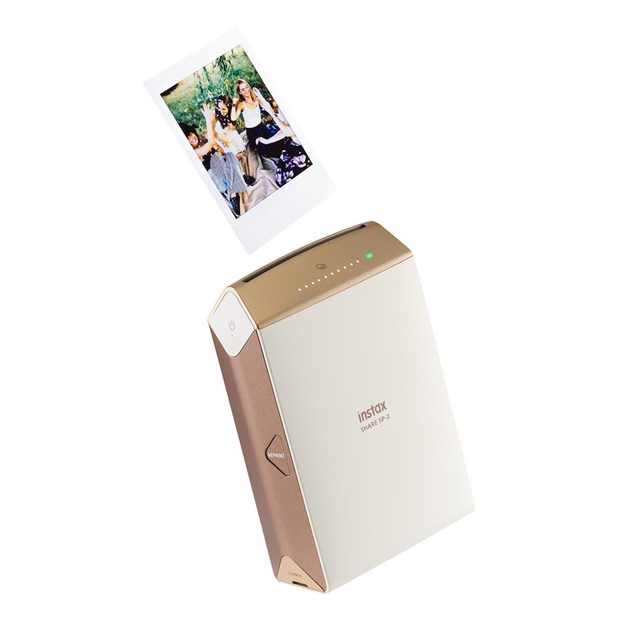 Máy In Ảnh Fujifilm INSTAX SHARE SP-2 - Gold - Hàng Chính Hãng