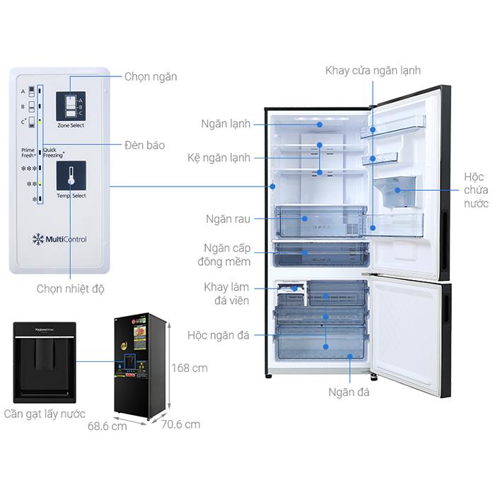 Tủ lạnh Panasonic Inverter 377L NR-BX421GPKV - Chỉ giao Hà Nội