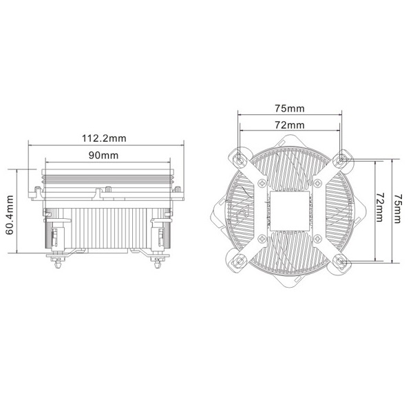 Tản nhiệt khí CPU Cooler Master XDREAM I117 - Hàng Chính Hãng