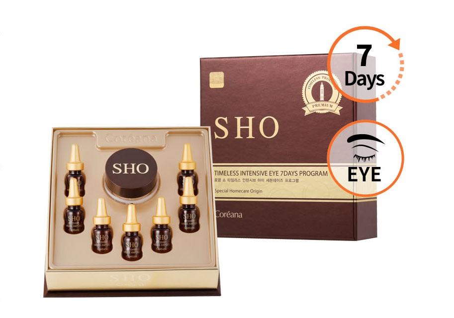 Bộ tinh chất Ampoule + kem dưỡng mắt 7 ngày chống lão hóa chuyên sâu Rodin SHO Timeless Intensive Eye 7 Days Program + Tăng kèm 2 Set Sample