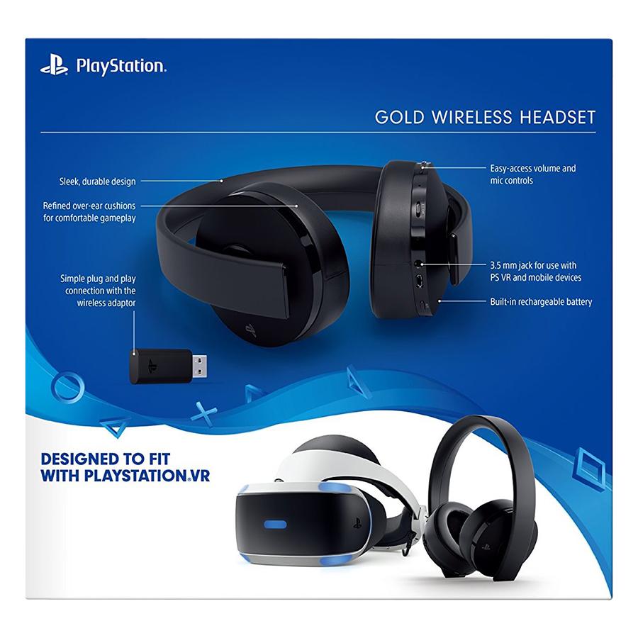Tai Nghe Playstation Sony PS4 Gold Wireless - Hàng Chính Hãng