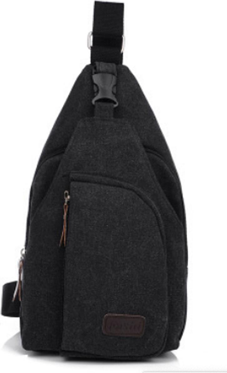 Túi đeo chéo unisex - Đen