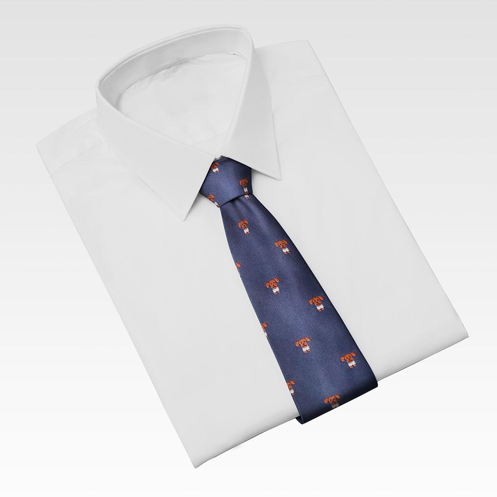 Cà vạt nam, cà vạt bản nhỏ, cà vạt 6cm-Cà vạt nam, cà vạt bản nhỏ, cà vạt 6cm màu xanh đen họa tiết CL6XDH029