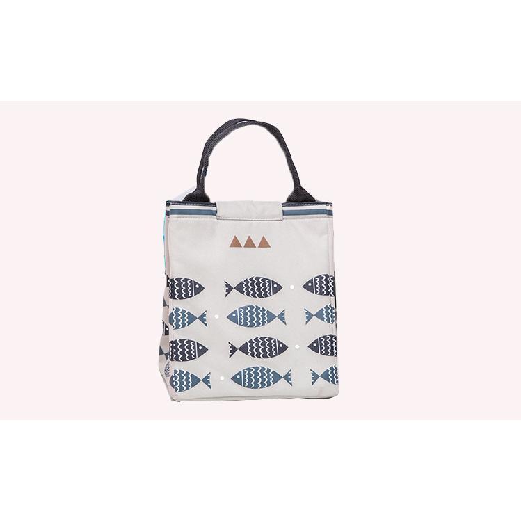 Túi đựng hộp cơm hình cá - giao màu ngẫu nhiên