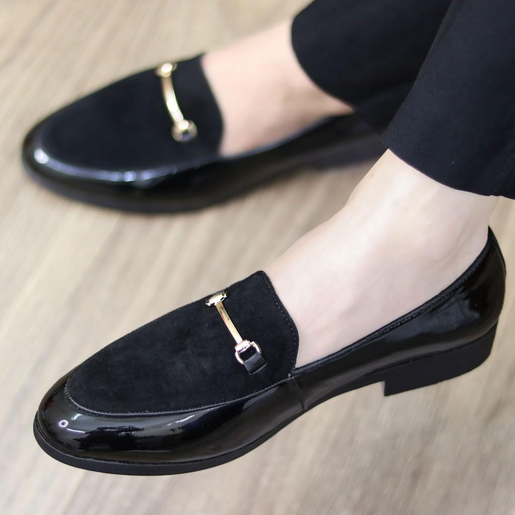 Giày Da nam cực chất xả kho giá gốc mã - giày lười nam MÃ l190