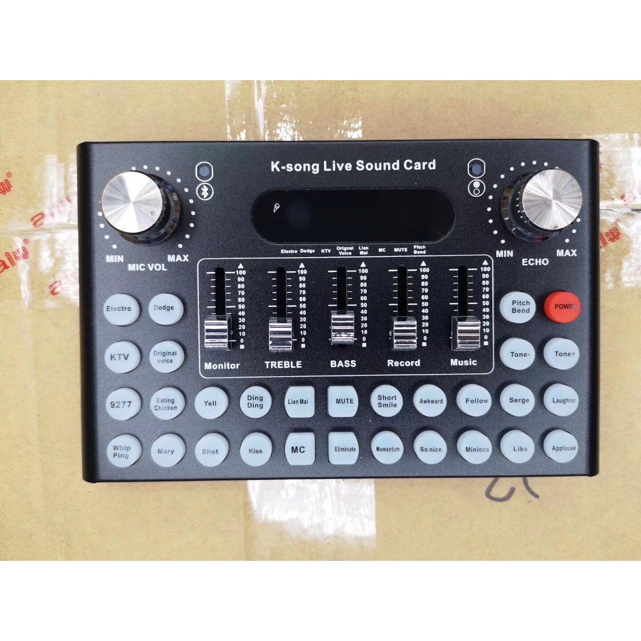 Sound Card Thu Âm LiveStream F-007 - Hàng Nhập Khẩu