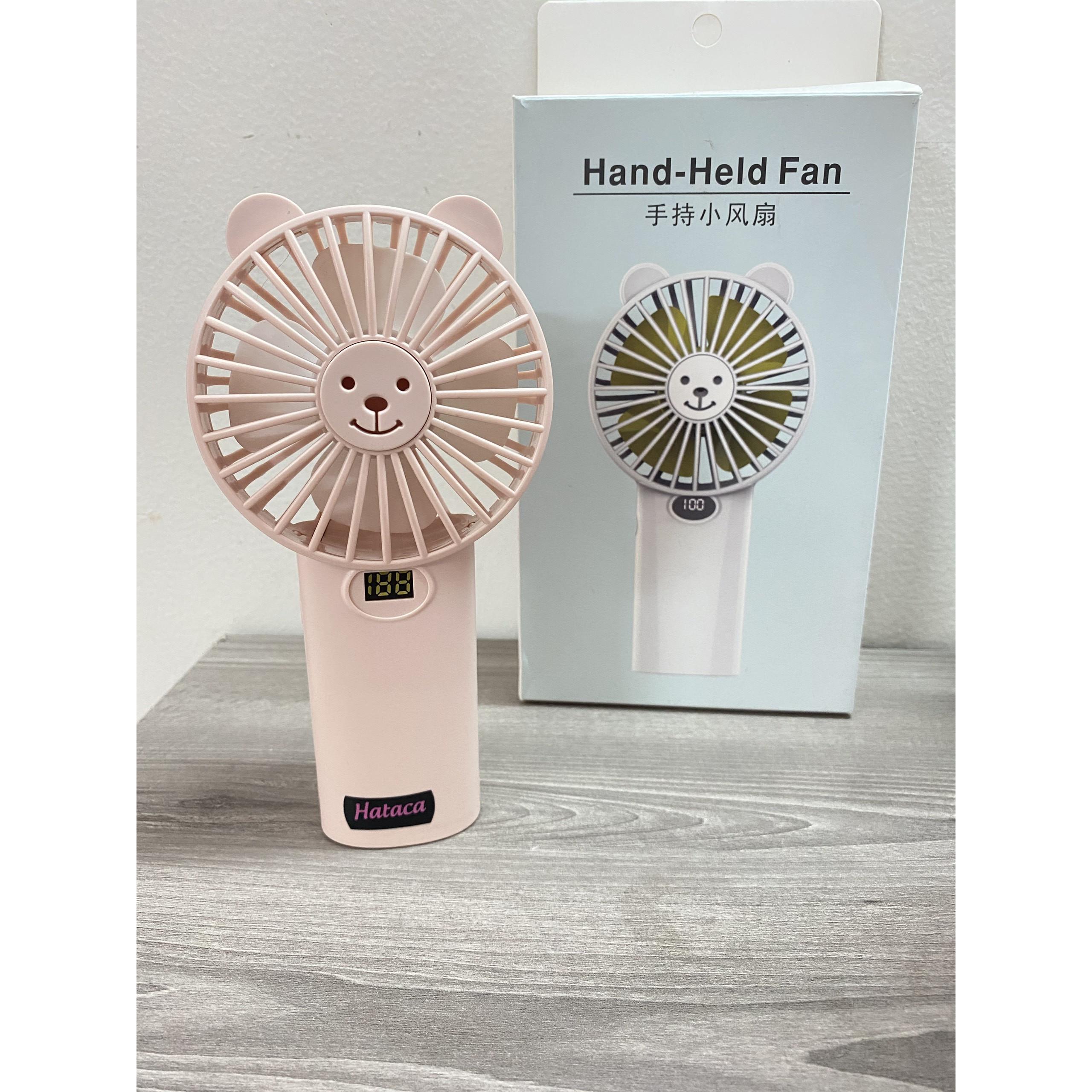 Quạt sạc mini cầm tay Hataca hand held fan - Hàng chính hãng