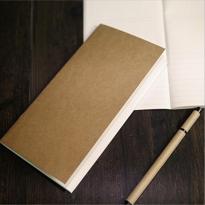 Sổ vở bìa giấy kraft trơn 64 trang 11x21cm - Kẻ ngang