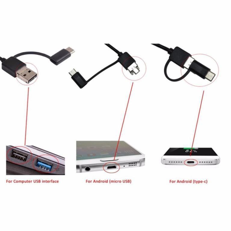 Camera nội soi lấy ráy tai có đèn LED hỗ trợ kết nối USB với điện thoại thông minh .