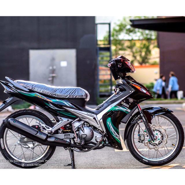 Tem dành cho xe Exciter 2009 lửa xanh lá Rời xe đen