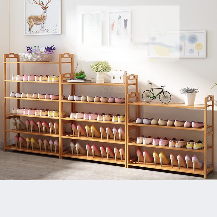 Kệ giá để giày bằng gỗ tre chống mối mọt 5 tầng,  kệ để giày dép TUR059