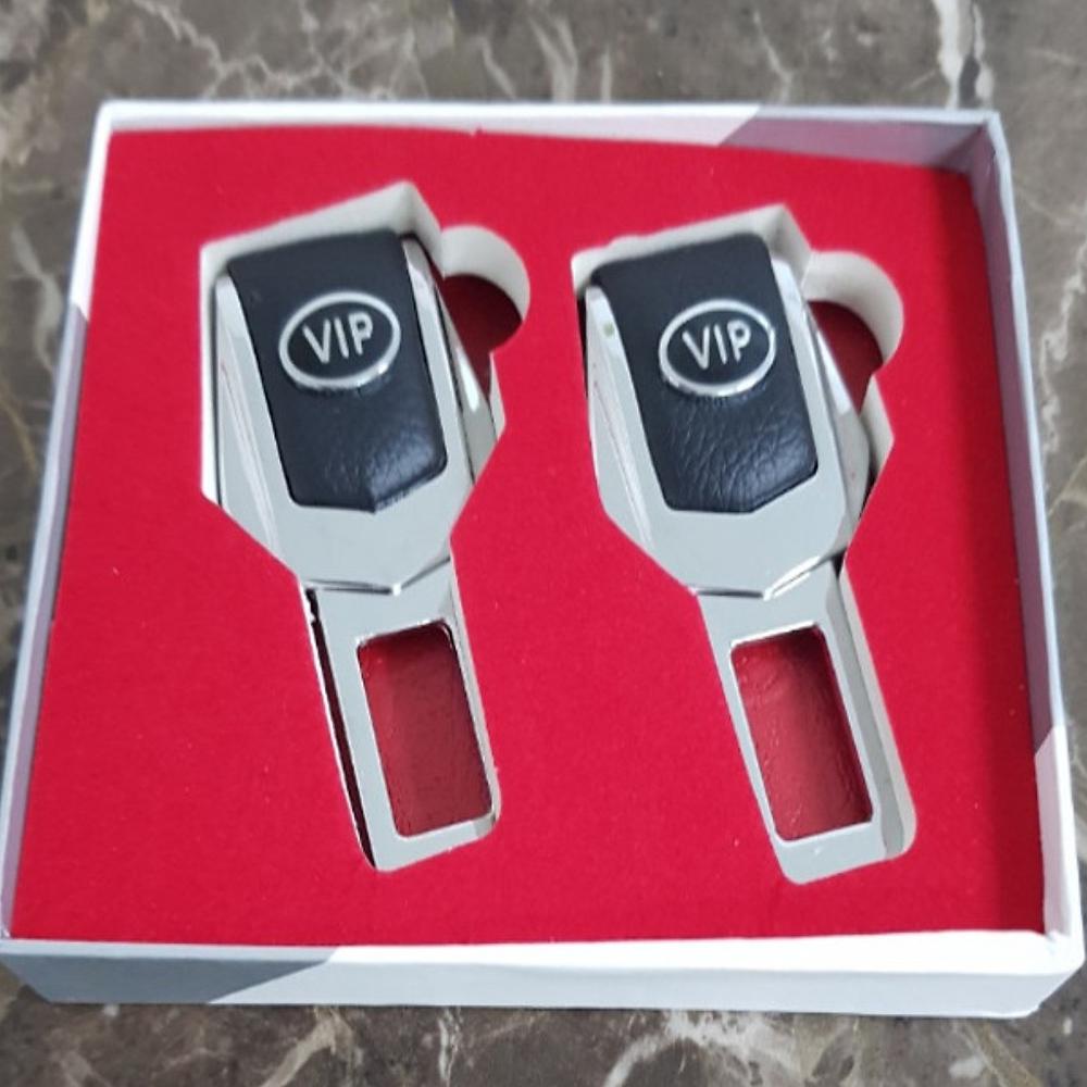 Combo 2 Chốt Khóa Dây An Toàn Logo VIP 4S dành cho ô tô  Ngắt Chuông Cảnh Báo Kêu Cho Xe Hơi/Ô Tô Cao Cấp