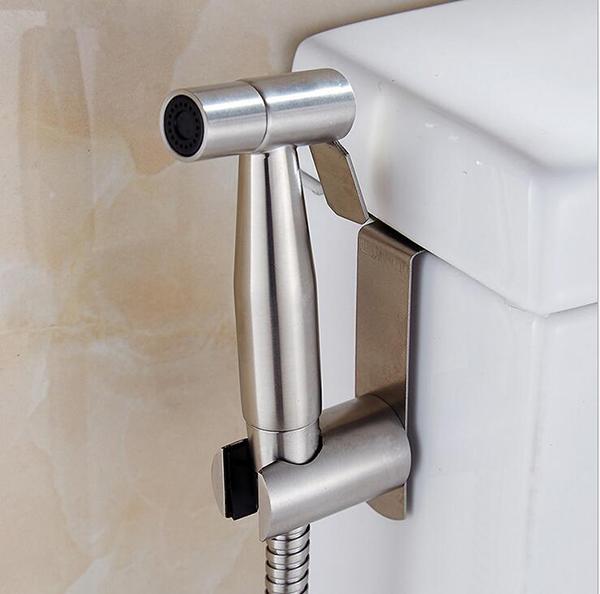 Bộ vòi xịt vệ sinh inox - Vòi xịt bồn cầu inox SUS 304 cao cấp