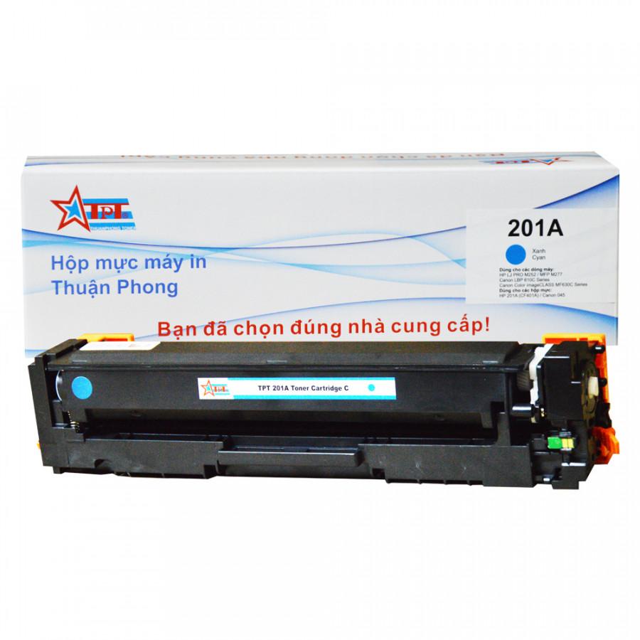 Hộp mực Thuận Phong 201A dùng cho máy in màu HP M252  MFP M277  Canon LBP 610C Series - Xanh - Hàng Chính Hãng