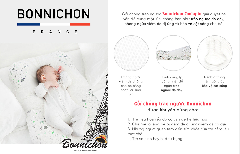 Gối chống trào ngược BONNICHON Coolapin Hàn Quốc (nhập khẩu chính hãng)