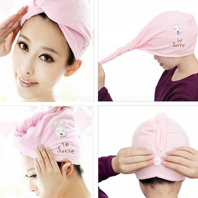 Mũ trùm đầu khi tắm, hấp tóc (tặng kèm 1 sản phẩm ngẫu nhiên)