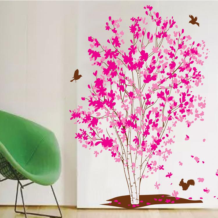 Decal Dán Tường PINK LOVE TREE -XY1161