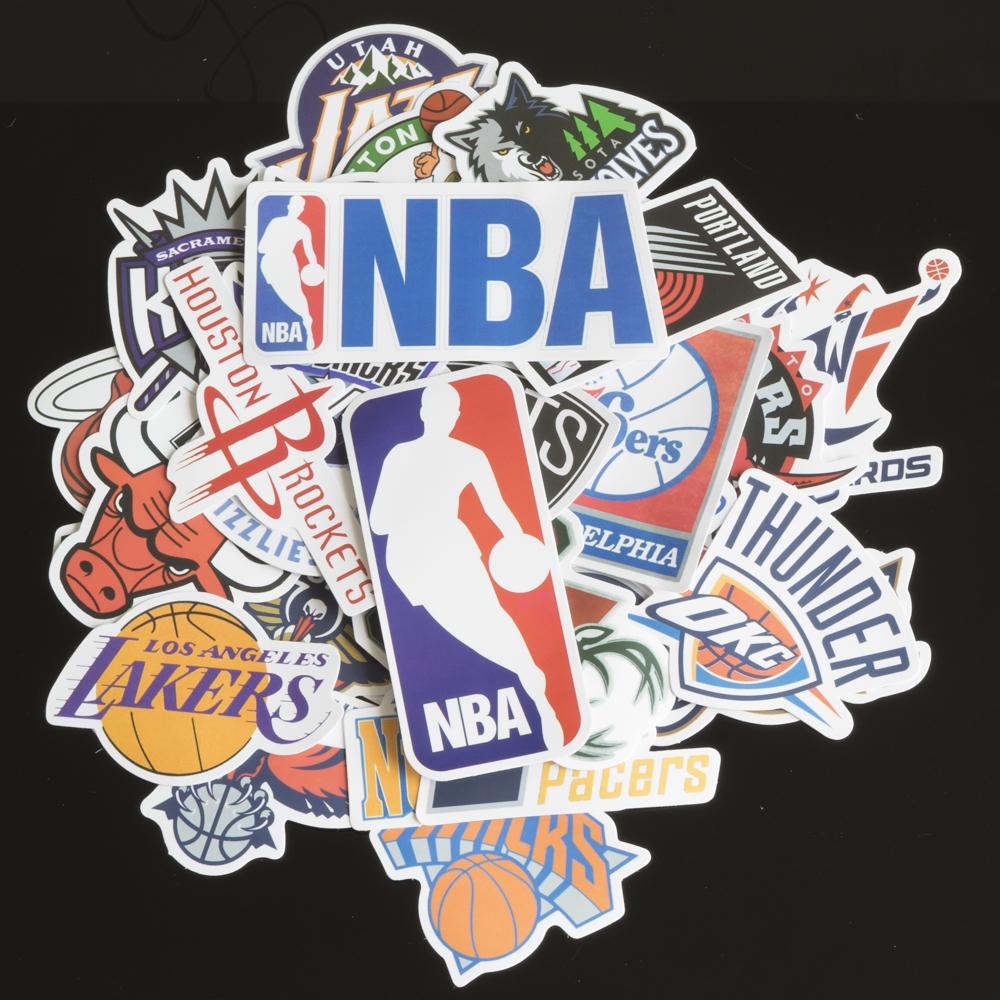 Bộ 35 Sticker Hình Dán chủ đề NBA bóng rổ  Cute Chống Nước Decal Chất Lượng Cao Trang Trí Va Li Du Lịch Xe Đạp Xe Máy Guitar Ukulele Laptop Nón Bảo Hiểm