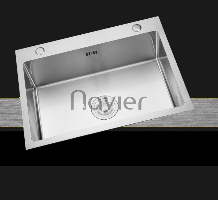 Chậu chén 1 ngăn Inox304 chuẩn cao cấp Navier NV-6045D