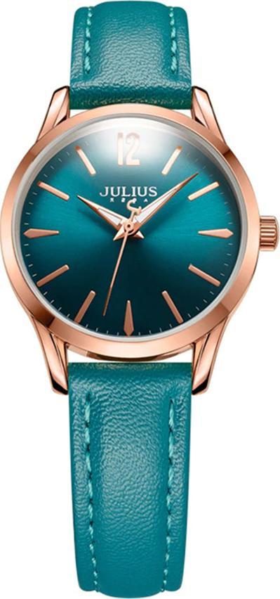 Đồng Hồ Nữ Julius Dây Da JA-983L JU1207 ( Xanh)