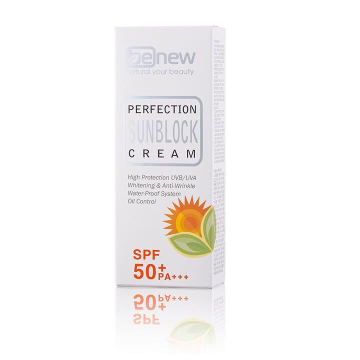 Kem chống nắng cao cấp Hàn Quốc Benew Perfection Sunblock Cream (50ml) - Hàng Chính Hãng [ Tặng dây cột tóc - màu ngẫu nhiên ]