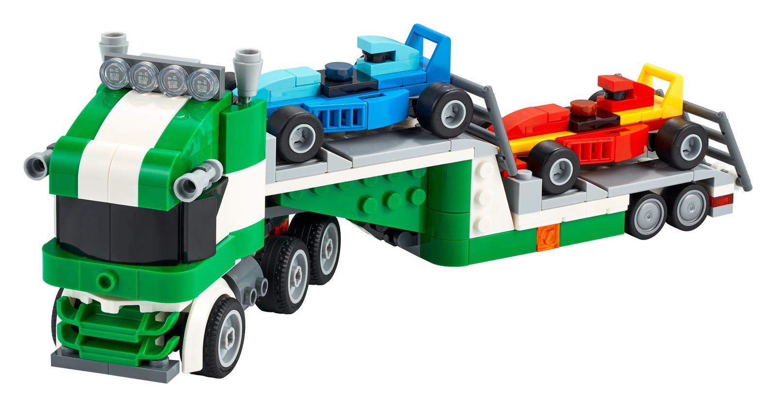 Đồ chơi LEGO Creator Xe Tải Vận Chuyển Xe Đua 31113
