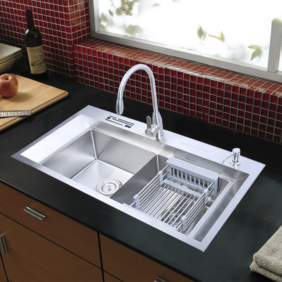 Bộ chậu rửa bát vòi rửa bát nóng lạnh cao cấp RANOX RN2692