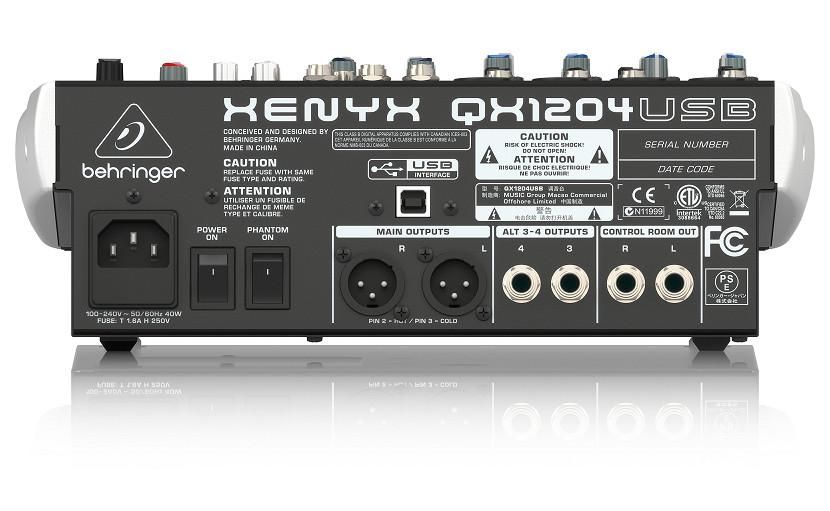 Bộ trộn âm thanh 12 kênh BEHRINGER QX1204USB- HÀNG CHÍNH HÃNG